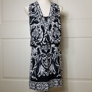 WHBM White House Black Market Faux Wrap Dress S